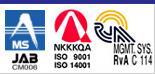 西川商事本社は、ISO9001・ISO14001を取得しています。